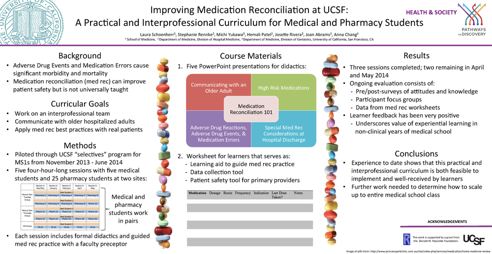 Posters | 2014 UCSF Research Scholarly Festival: ePosterpalooza