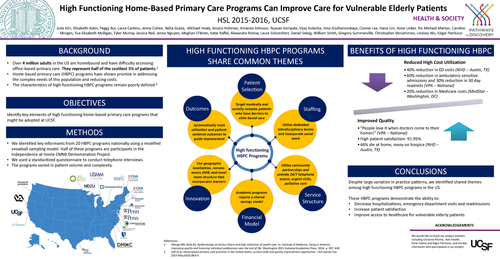 Redefining Home Based Primary Care at UCSF: A Qualitative