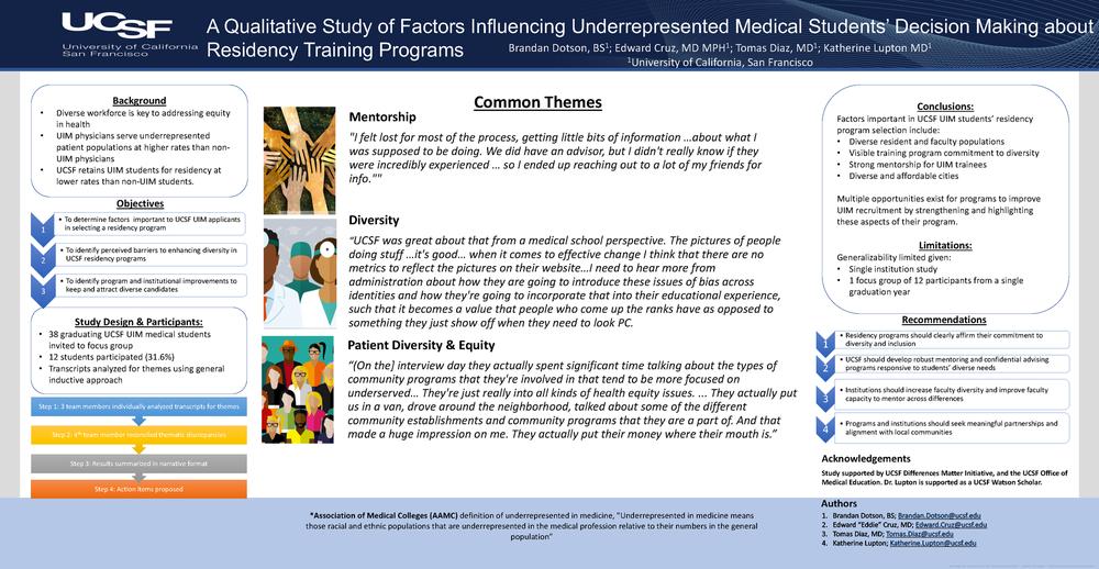 A qualitative study of factors influencing underrepresented medical